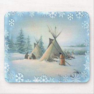 TIPI CAMP SQUAW by SHARON SHARPE Mouse Pad