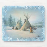 TIPI CAMP SQUAW by SHARON SHARPE Mouse Pads