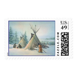 TIPI CAMP SQUAW by SHARON SHARPE Postage