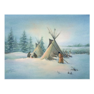 TIPI CAMP SQUAW by SHARON SHARPE Postcard