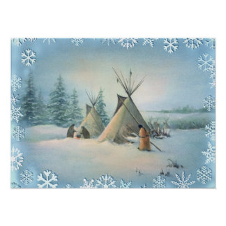 TIPI CAMP SQUAW by SHARON SHARPE Poster