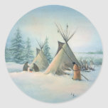 TIPI CAMP SQUAW by SHARON SHARPE Stickers