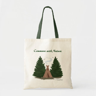 Tipi in the Woods Tote Bag