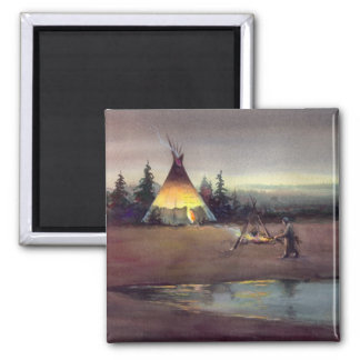 TIPI LIGHTS by SHARON SHARPE Magnet