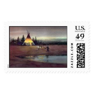 TIPI LIGHTS by SHARON SHARPE Stamp