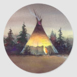 TIPI LIGHTS by SHARON SHARPE Stickers