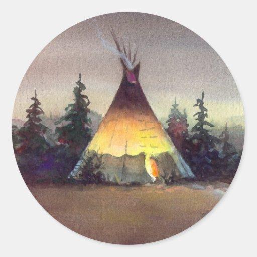 TIPI LIGHTS by SHARON SHARPE Stickers