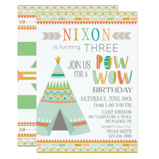 Tipi Native American Indian Pow Wow Birthday Card