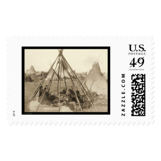 Tipi of Mrs. American Horse SD 1891 Postage Stamp