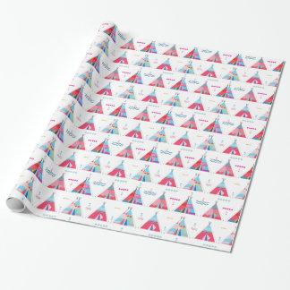 tipi rosado papel de regalo