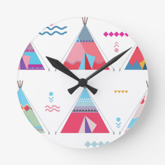 tipi rosado reloj redondo mediano