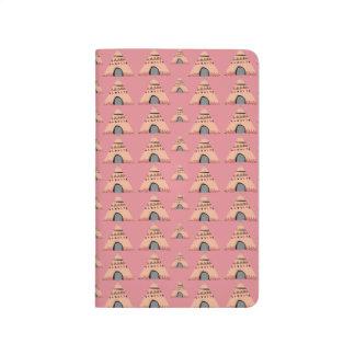 Tipi rosado SIRAdesign femenino Cuaderno Grapado