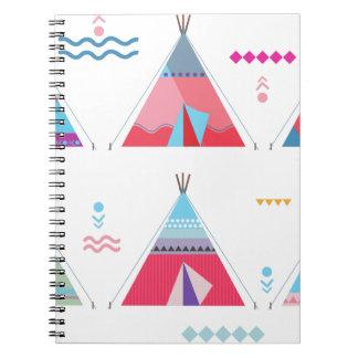 tipi rosado spiral notebooks