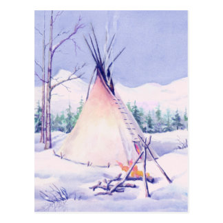 TIPI & SNOW by SHARON SHARPE Postcard