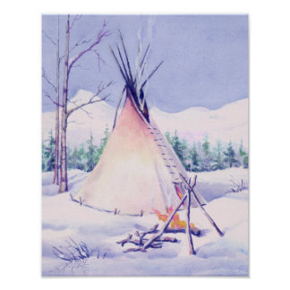 TIPI & SNOW by SHARON SHARPE Poster