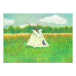 Tipi teepee central Minnesota landscape drawing Announcements
