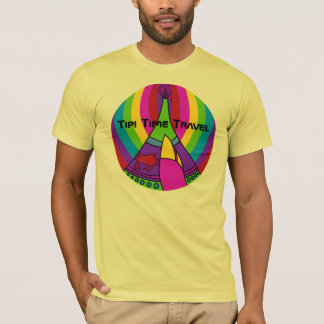 Tipi Time Travel a colorful new original t-shirt