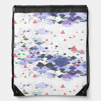 Tipiland geometrical of triangles and surfaces drawstring bag