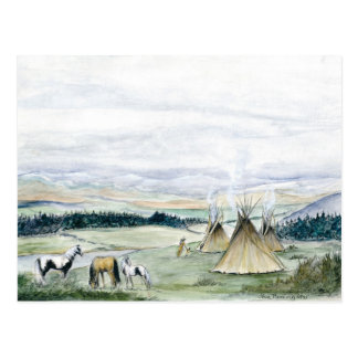 Tipis en el valle postal