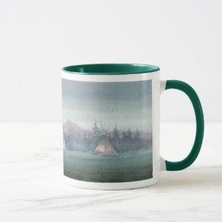 TIPIS IN THE MIST by SHARON SHARPE Mug
