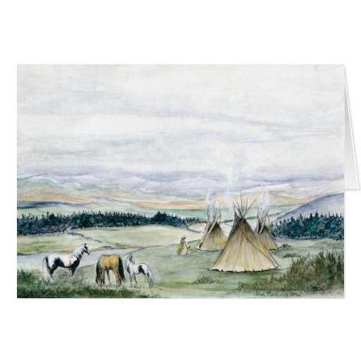 Tipis in the Valley Card