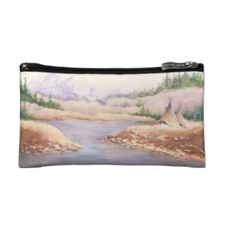 TIPIS ON THE RIVER BANK by SHARON SHARPE Cosmetic Bag