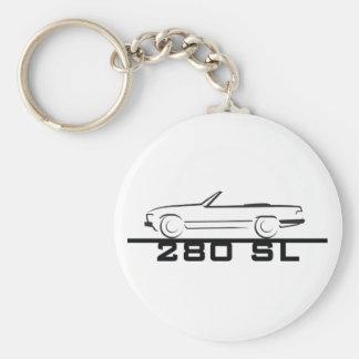 Tipo 107 de Mercedes 280 SL Llavero Redondo Tipo Pin