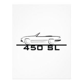 Tipo 107 de Mercedes 450 SL Membrete Personalizado