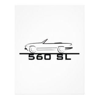 Tipo 107 de Mercedes 560 SL Membrete Personalizado