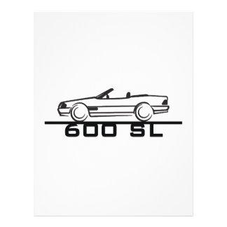 """Tipo 129 de Mercedes 600 SL Folleto 8.5"""" X 11"""""""
