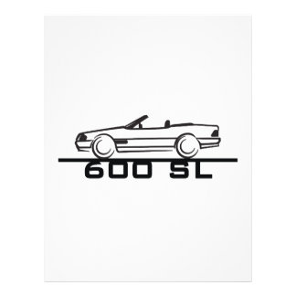 Tipo 129 de Mercedes 600 SL Membrete Personalizado