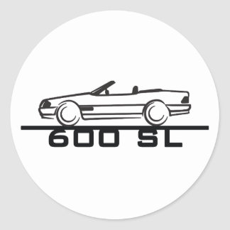 Tipo 129 de Mercedes 600 SL Pegatina Redonda