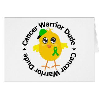 Tipo 1 del guerrero del cáncer del riñón tarjeta de felicitación