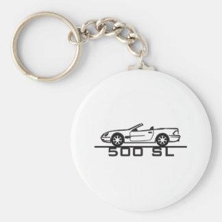 Tipo 230 de Mercedes 500 SL Llavero Redondo Tipo Pin