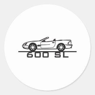 Tipo 230 de Mercedes 600 SL Pegatina Redonda