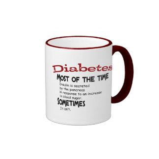 Tipo - 2 regalos y camisetas de la diabetes taza de café