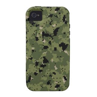 Tipo 3 arbolado Camo de NWU de Digitaces Case-Mate iPhone 4 Fundas