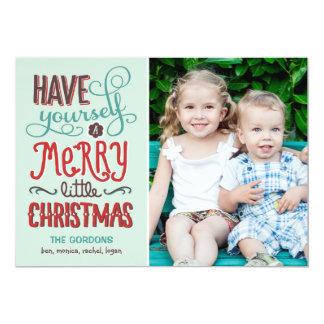 """Tipo adorable tarjeta de la foto del navidad invitación 5"""" x 7"""""""