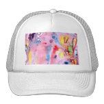 Tipo atado diseño, rosado púrpura del tinte y más gorras de camionero