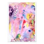 Tipo atado diseño, rosado púrpura del tinte y más invitación 12,7 x 17,8 cm