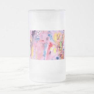 Tipo atado diseño, rosado púrpura del tinte y más jarra de cerveza esmerilada