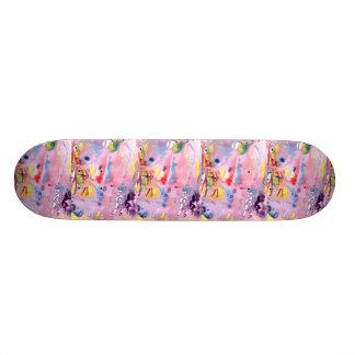 Tipo atado diseño, rosado púrpura del tinte y más patín personalizado