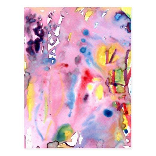 Tipo atado diseño, rosado púrpura del tinte y más postal