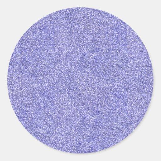 Tipo azul y blanco imagen de la seguridad de fondo pegatina redonda