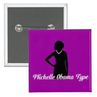 Tipo botón, púrpura Amethyst de Michelle Obama Pin Cuadrado