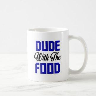 Tipo con la comida - diseño divertido taza clásica