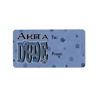 TIPO de Akita Etiqueta De Dirección