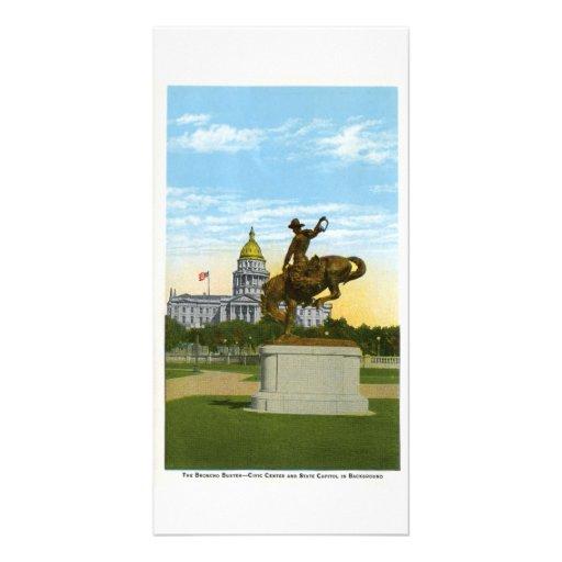 Tipo de caballo salvaje, Denver, Colorado Tarjetas Fotográficas Personalizadas