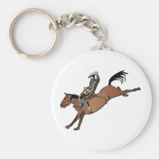 Tipo de caballo salvaje sin texto llavero redondo tipo chapa