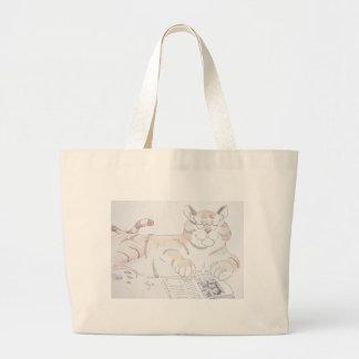 Tipo de gato, 5 letras… bolsa tela grande